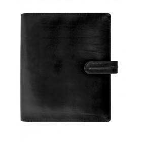 Agenda organiseur EXACOMPTA Exatime 21 cuir Napoli noir - 230 x 190 mm