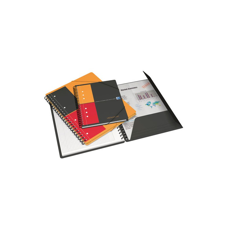 Cahier chemise a4 spirale meetingbook oxford international 160pages carreaux 5x5mm - Cahier oxford office book ...