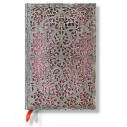 Agenda PAPERBLANKS Rose Tendre format Mini 95 x 140 mm - 1 semaine sur 2 pages horizontal