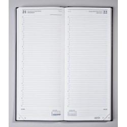 Agendas BREPOLS Noire Travers, échelle horaire au 1/4 d'heure 13,5 x 33 cm - 1 jour par page