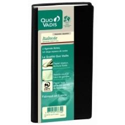 Agenda QUOVADIS Italnote noir - 8,8 x 17 cm - 13 1/2 mois (mi-novembre à décembre)