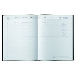 Agenda BREPOLS Alfa 15 - 10x15cm - 1 semaine sur 2 pages couverture assorti Calabria