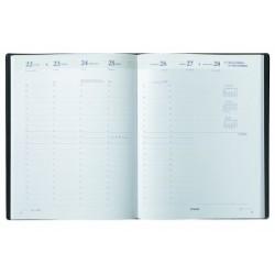 Agenda BREPOLS Alfa 13 - 10x13cm - 1 semaine sur 2 pages couverture capri +répertoire