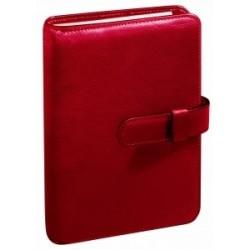 Agenda organiseur QUOVADIS - TIMER 17 Prestige couverture Montebello rouge - 10x17cm