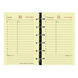 Recharge QUOVADIS Timer 14 ivoire 8x12.5cm 1 jour/page Janvier - décembre