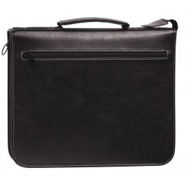 Organiseur OBERTHUR 30 MILANO en toile enduite couleur noir - format 25x32cm