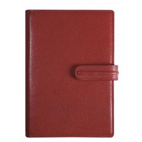 Agenda organiseur EXACOMPTA Exatime 17 light cuir Galuchat rouge - 190 x 135 mm