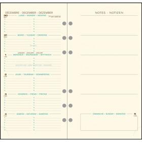 Recharge Exatime 17 pocket semainier millésimé sem sur 2p avec notes - 170 x 92 mm
