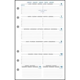 Recharge Exatime 17 semainier millésimé semaine sur 1 page - 172 x 105 mm