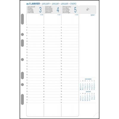 Recharge Exatime 21 semainier millésimé sem sur 2 pages vertical - 210 x 142 mm