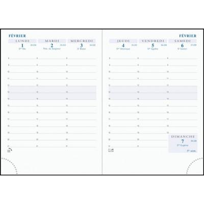 Recharge pour agenda EXACOMPTA Intérieur de rechange de semainier de poche Horizons 15 tranche or répertoire - 155x105mm