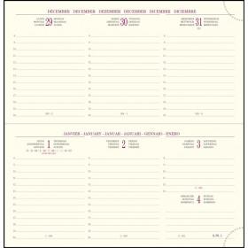 Recharge pour agenda EXACOMPTA Intérieur de rechange de semainier de poche Temporel 17 tranche or répertoire et atlas - 175x90mm