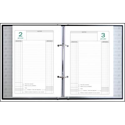 Recharge pour agenda EXACOMPTA Recharge feuillets mobiles pour perpétuel caisse - 240x160mm