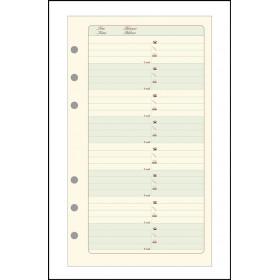 Recharge EXACOMPTA pour Exatime 17 - bloc étroit adresses-téléphones ivoire - 44 feuillets