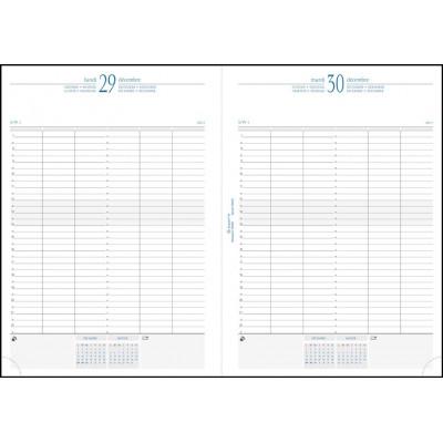 Agenda journalier de bureau 1 jour par page EXACOMPTA Journal 29/1 - 29,7x21cm couverture Barbara NOIR