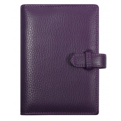 Agenda organiseur EXACOMPTA Exatime 14 cuir Cali vachette pleine fleur  violet - 140 x 100 mm 9fe9118b5db
