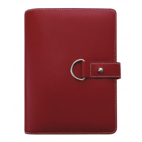 Agenda organiseur EXACOMPTA Exatime 14 Ring Belt rouge - 140 x 100 mm