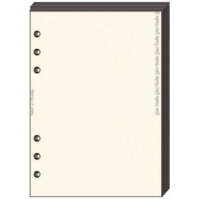 Recharge QUOVADIS Bloc Notes papier ivoire 8 x 12,5cm pour TIMER 14