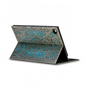 Coque de protection eXchange PAPERBLANKS série Maya Bleu pour tablette tactile iPad 2-3-4 - 197×254mm