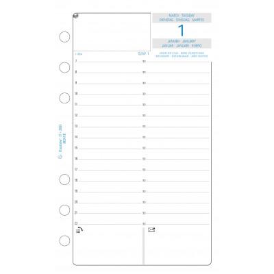 Recharge Exatime 17 journalier millésimé annuel 1er et 2eme semestre - 172 x 105 mm