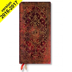 Agenda PAPERBLANKS Carmin - Slim 90×180mm - 1 semaine sur 2 pages horizontal