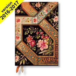 Agenda PAPERBLANKS Filigrane Floral Ivoire - Mini 100×140mm - 1 jour par page