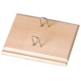 Socle pour éphéméride en bois vernis