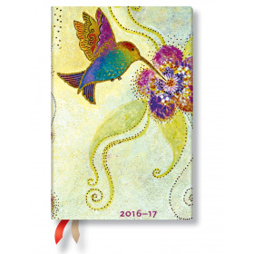 Agenda PAPERBLANKS (Version ANGLAISE) Colibri - Mini 95×140mm - 1 semaine sur 2 pages horizontal
