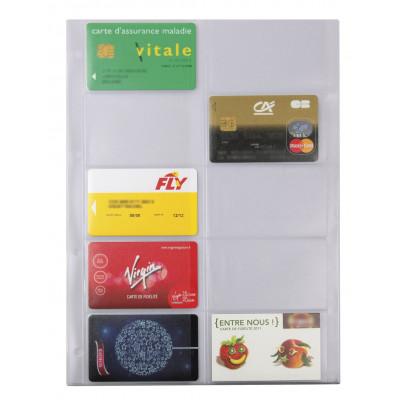 Recharge EXACOMPTA pour Exatime 29 - 4 pochettes cartes de visite