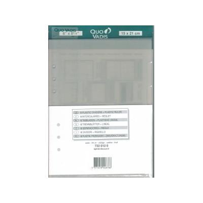 QUOVADIS Intercalaires + étiquettes +réglet pour TIMER 21