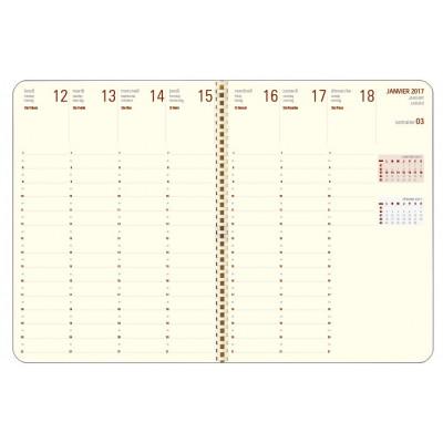 Recharge agenda spirale OBERTHUR Contemporain 27 - 21x27cm - 1 semaine sur 2 pages LODGE/KENT