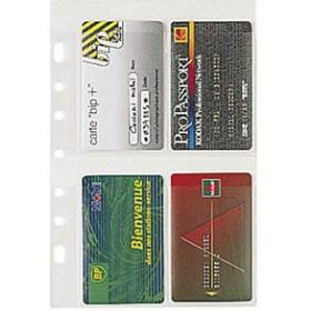 Recharge EXACOMPTA pour Exatime 21 - Pochette porte cartes 4+1 avez ZIP