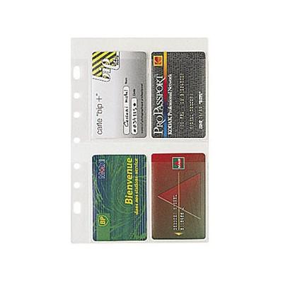 Recharge EXACOMPTA pour Exatime 21 - 5 pochettes cartes de visites