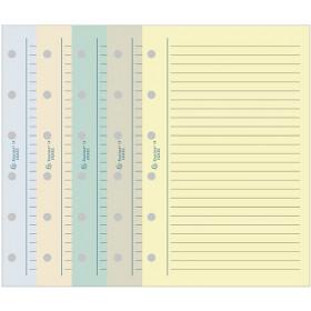 Recharge EXACOMPTA pour Exatime 21 - Bloc travers ligné couleurs assorties - 210x142mm - 32pages