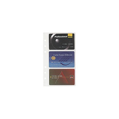 Recharge EXACOMPTA pour Exatime 17 porte cartes 4+1 avec ZIP