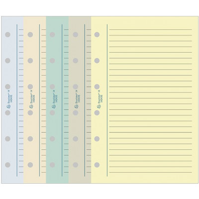 Recharge EXACOMPTA pour Exatime 17 étroit - Bloc travers ligné couleurs assorties - 170x98mm - 44p
