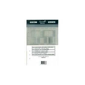 QUOVADIS 6 intercalaires plastique noir + réglet pour TIMER 17