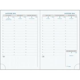 Agenda EXACOMPTA Interieur de rechange de semainier de poche Horizons 13 tranche or répertoire - 130 x 90 mm