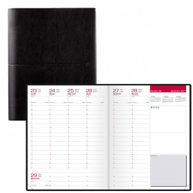 Agenda OXFORD Semainier First 21 x 27 cm - Grille business couverture noire