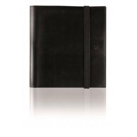Agenda semainier à spirale OXFORD Compact organizer 12x15cm - 1 semaine sur 2 pages couverture Noir