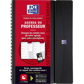Agenda du professeur OXFORD Teacher 21x29,7cm - 8 Classes- COLORIS ALEATOIRES