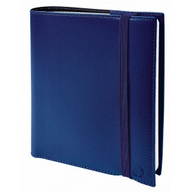 Agenda QUOVADIS TIME & LIFE Septembre MEDIUM - 16x16cm - BLEU PERSE - 1 semaine sur 2 pages