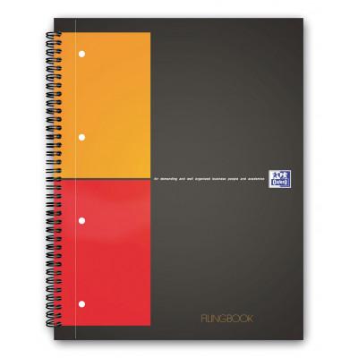 Cahier A4+ à spirale FILINGBOOK OXFORD International 200pages- carreaux 5x5mm - 233x298mm