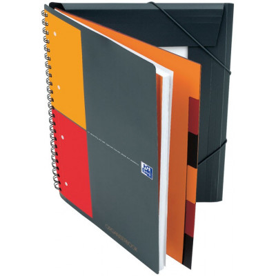 Cahier-Trieur spirale ORGANISERBOOK OXFORD International 160pages- carreaux 5x5mm - 245x310mm