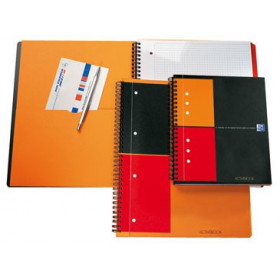 Cahier A4+ à spirale ACTIVEBOOK OXFORD 160pages - carreaux 5x5mm - 240x297mm