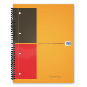 Cahier A4 spirale OXFORD 160 pages - ligné - 230x297mm