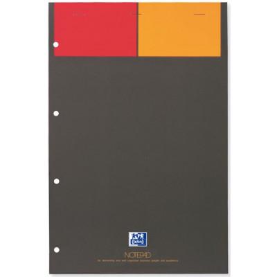 Bloc-notes A4+ OXFORD orange 160 pages perforées - carreaux 5x5mm - 210x315mm