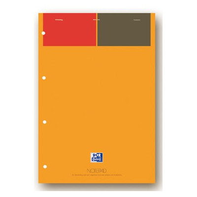 Bloc-notes A4+ OXFORD orange 160 pages perforées - ligné - 210x315mm