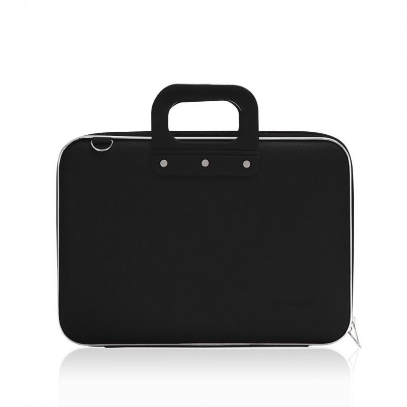 mallette pc portable 13 bombata medio classic vinyle noir 38x29x7cm agenda discount. Black Bedroom Furniture Sets. Home Design Ideas