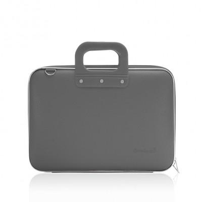 """Mallette PC Portable 13"""" BOMBATA MEDIO CLASSIC vinyle GRIS FONCE - 38x29x7cm"""